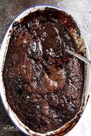 chocolate desserts thanksgiving fudge chocolate pudding cake cafe delites
