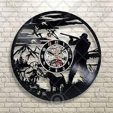 duck home decor duck hunting bird hunting vinyl record wall clock art home decor