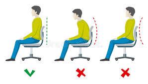 position assise bureau position d assise fausse et bonne d épine infographics plat de