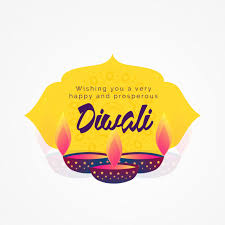 diwali wishes greeting card design with diya vector free