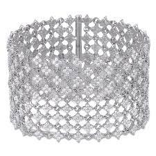 diamond bracelet cuff images Diamond mesh cuff bracelet jacob co timepieces fine png