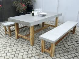 Concrete Patio Table Furniture Concrete Patio Table And Benches Home Design Ideas