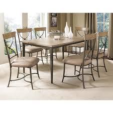 hillsdale charleston 7 piece rectangle desert tan wood dining set