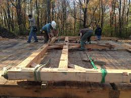 how to build a wood floor with pole barn construction