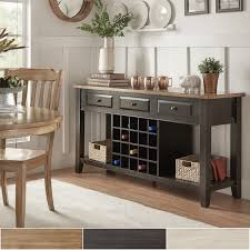 eleanor two tone wood wine rack buffet server by inspire q classic