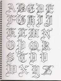 imagenes goticas letras caligrafía abecedarios abecedario caligrafía y letras