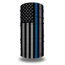 Thin Blue Line Flag Thin Blue Line American Flag Bandana Flag Face Masks Hoo Rag