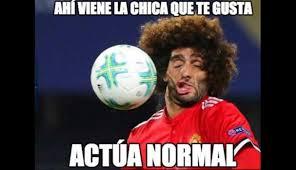 Futbol Memes - la divertida foto de marouane fellaini que desat祿 una gran