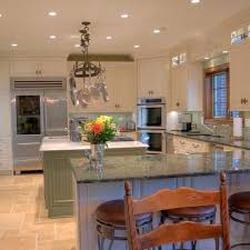 corner oven kitchen traditional with green kitchen island upright