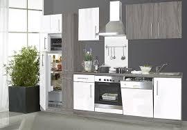 küche mit e geräten küchenblock küchenzeile sonoma eiche trüffel weiß hochglanz