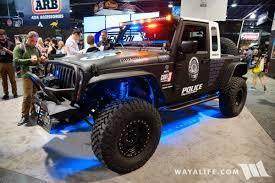 jeep jk8 2017 sema fishbone offroad code3 it jeep jk 8 police off road