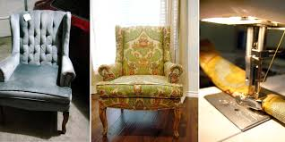 Recover Chair Remodelaholic Hints For Recovering A Wingback Chair