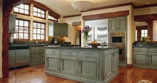 painted kitchen ideas green chalk painted cabinet with wood floor for traditional