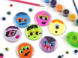 Childrens Halloween Craft Ideas - monster buttons kids halloween craft idea persia lou