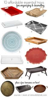 remodelaholic why you should use trays in your home decor