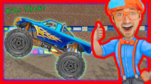 monster truck videos please monster truck song educational videos for preschoolers blippi