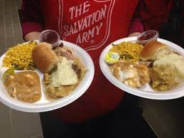 salvation army hosts thanksgiving dinner in new headquarters