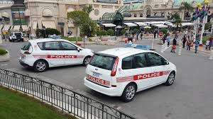 renault scenic 2017 monte carlo monaco april 18 2017 two monaco police cars