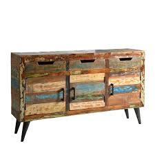 Wohnzimmerschrank 60 Jahre Shabby Chic Sideboard Aus Recyclingholz Bunt Sideboard