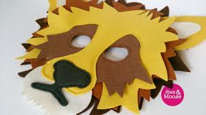 lion mask for pretend play dress up 100 wool dress up eco