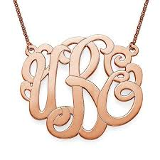 monogram necklace gold 1 5 script monogram necklace in gold bliss danville