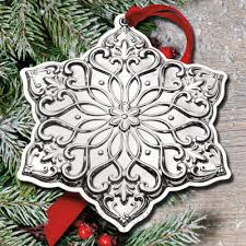 2017 snowflake ornaments sterling collectables