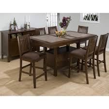 Dining Room Set 7 Piece Jofran Trumbull 7 Piece Counter Height Dining Table Set With