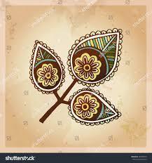 indian ethnic henna tattoo pattern orient stock vector 345028916
