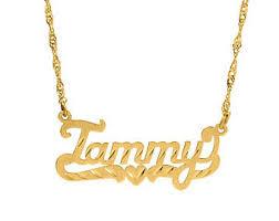 customized nameplate necklace sweet design personalized nameplate necklace 18k gold plated white