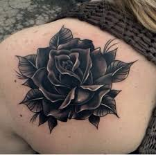 nice one black rose tattoos on back shoulder golfian com