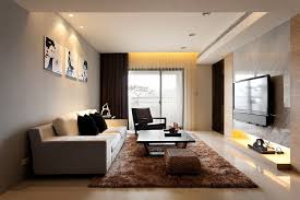 Laminated Floor Small Modern Apartment Decorating Wooden Frames Wall Mounted Tv