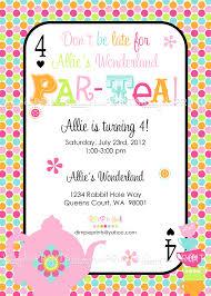 Invitation Card Party Birthday Tea Party Birthday Party Invitations