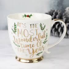 christmas mug most wonderful time of the year ceramic christmas mug by