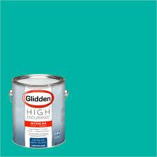 glidden high endurance interior paint and primer bright teal