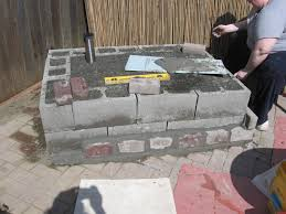 building a outdoor fireplace from cinder blocks fireplace design