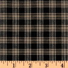 homespun basics plaid black discount designer fabric