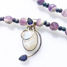 awaken to your higher self ss with moonstone and amethyst necklace
