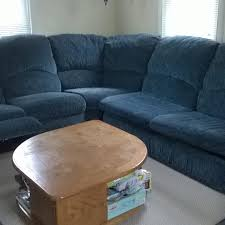 Sectional Sofa Blue Find More Euc Three Sectional Sofa Blue Recliner
