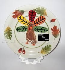 keepsake plate keepsake thanksgiving plate footprint turkey handprint
