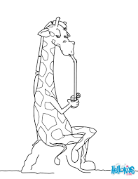 giraffe drinking a refreshment coloring pages hellokids com