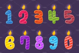 number birthday candles set of numbers birthday candles icons creative market