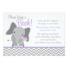 Baby Shower Instead Of A Card Bring A Book Baby Shower Book Request Invitations U0026 Announcements Zazzle