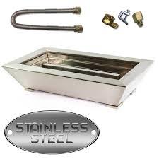 Fireplace Burner Pan by Paramount Fireplace Pan Burner Stainless Steel Blazingglass Com