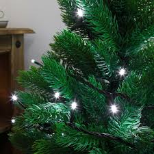 indoor led christmas tree lights green cable