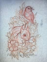 by patriciacäcilia squirrel bird flower rose cherryblossom cute