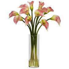 Flower Arrangements For Tall Vases Lily Artificial Flowers You U0027ll Love Wayfair