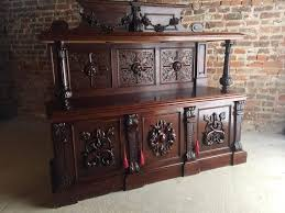 antique sideboard buffet gothic oak 19th century victorian heavily
