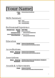 Resume Template For Openoffice 11 Resume Formats In Ms Word Skills Based Resume