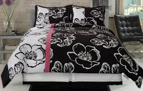 confortable pink black and white comforter sets nice home design