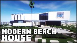 Modern Beach House by Minecraft Modern Beach House Youtube